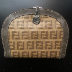 Vintage Fendi Brown Coin Purse With Cardholder